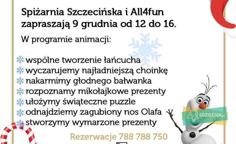 Szacecin dla dzieci: Rodzinny obiad mikołajkowy z animatorką w Spiżarni Szczecińskiej