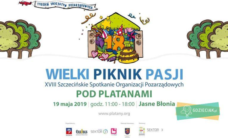 """Szacecin dla dzieci: Piknik Pasji: 18 spotkania """"Pod Platanami"""""""