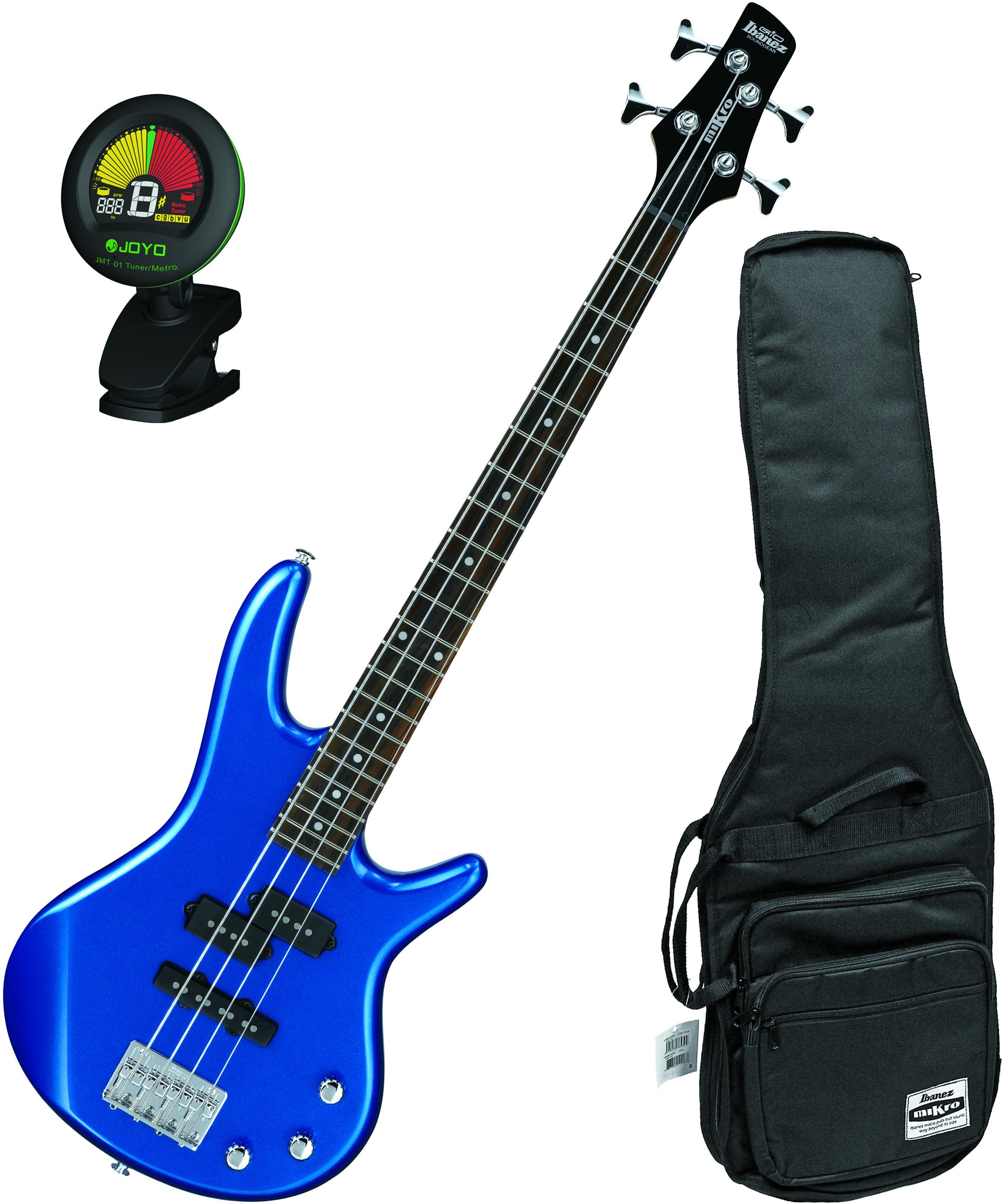 ibanez gsrm20slb starlight blue mikro 4 string bass guitar bundle w bag tun ebay. Black Bedroom Furniture Sets. Home Design Ideas