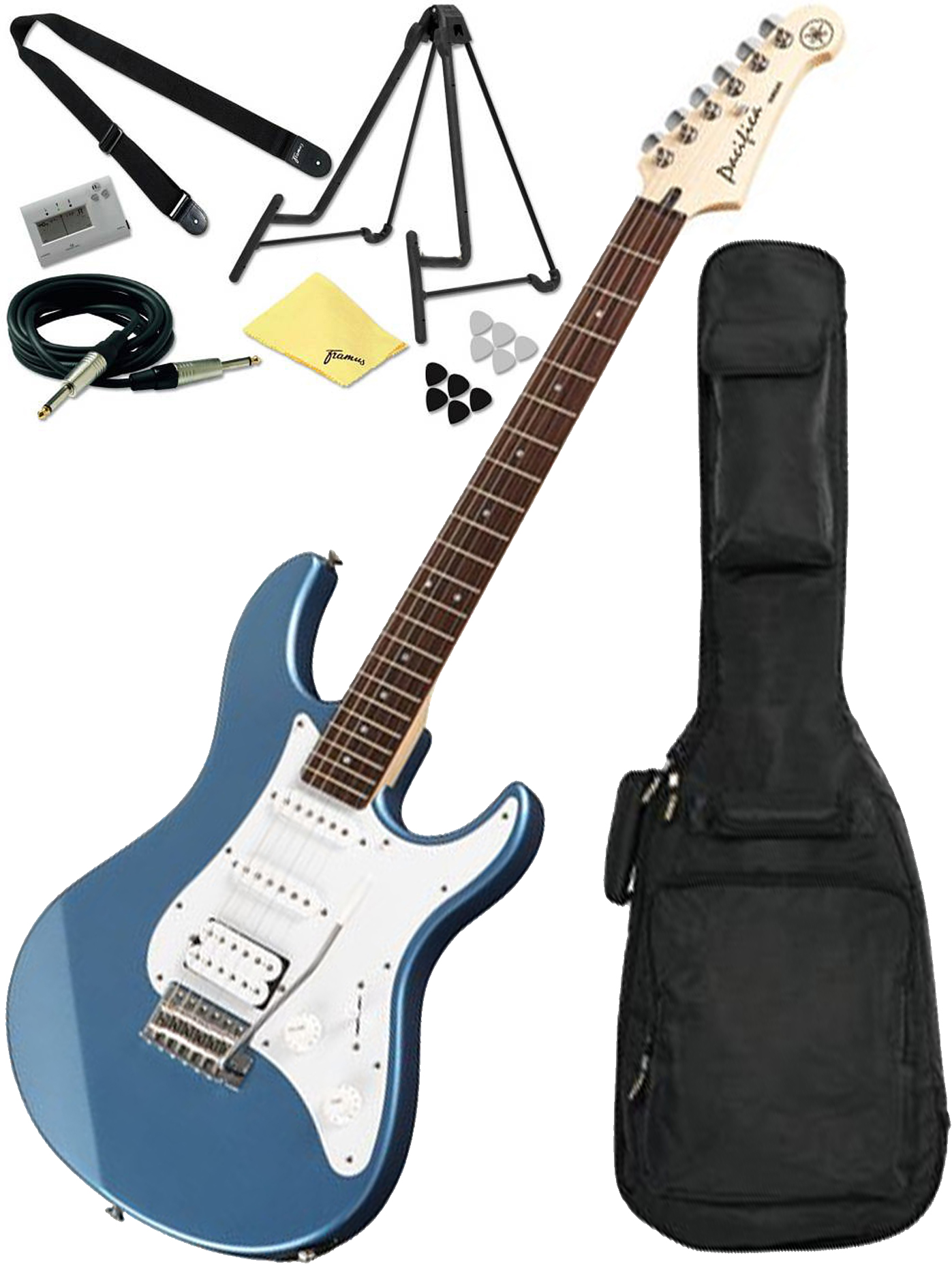 yamaha pacifica pac112j lb lake blue electric guitar bundle w accessory pac ebay. Black Bedroom Furniture Sets. Home Design Ideas