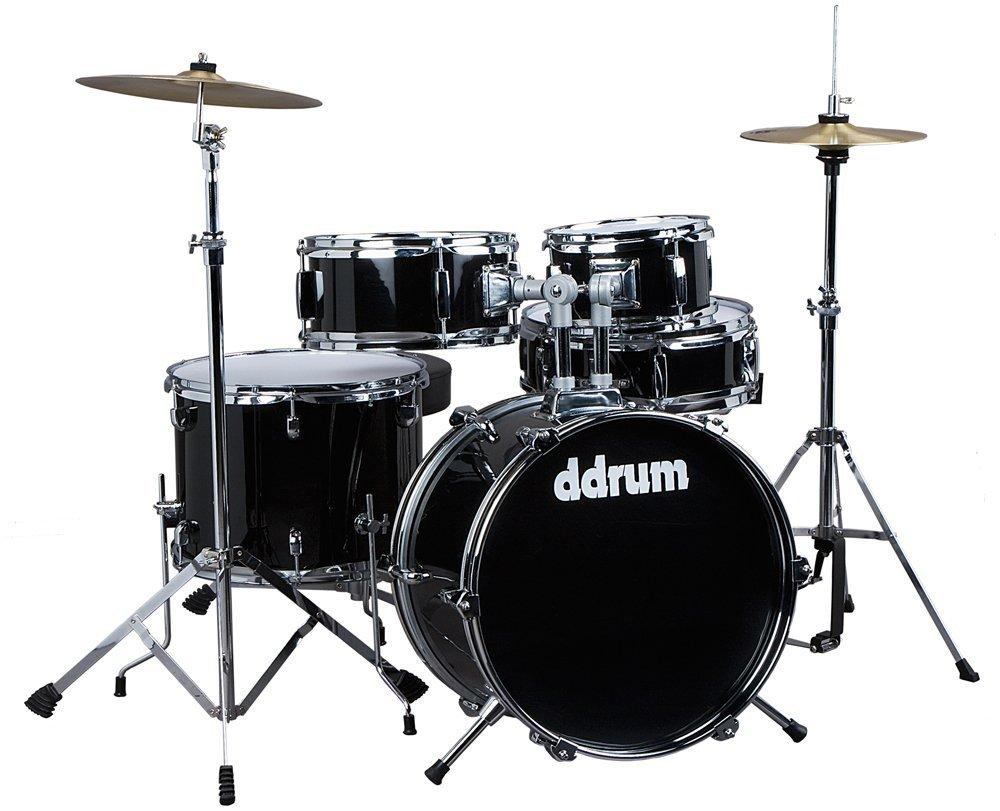 ddrum d1 mb d1 junior drum set 5pc midnight black w book and drum sticks. Black Bedroom Furniture Sets. Home Design Ideas