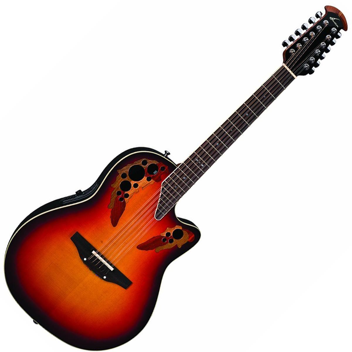 ovation 2758ax neb standard elite 12 string new england burst guitar w case tuner and stand. Black Bedroom Furniture Sets. Home Design Ideas