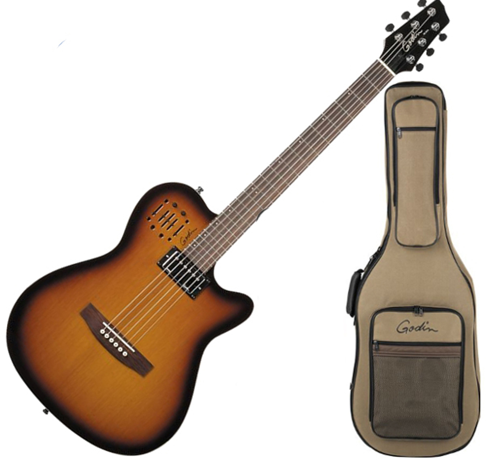 godin 030286 a6 ultra semi acoustic thin line guitar w humbucker cognac burst semi gloss w. Black Bedroom Furniture Sets. Home Design Ideas