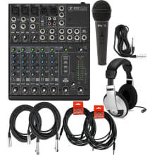 802VLZ4 8-Channel Analog Mixer Bundle