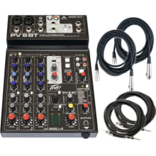 PV6 BT 2-Channel Bluetooth Mixer Bundle