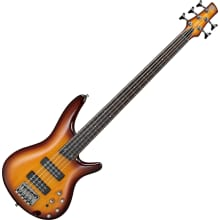 SR375EF Fretless Brown Burst 5-String Bass