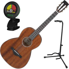 AVN9 Parlor Thermo Aged Acoustic Guitar Bundle