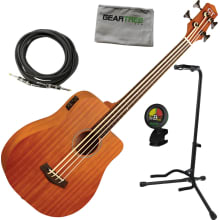 MBASS-25 Fretless MicroBass Guitar Bundle