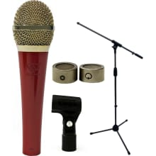 LSC-1RG Red Condenser Microphone Bundle