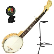 Mini Cripple Creek Travel Banjo Bundle