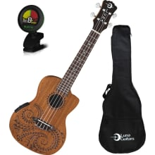 Tattoo Concert Ukulele (w/Preamp) Bundle