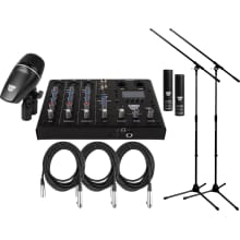 SSKIT 4-Piece Drum Mic/Mixer Kit Bundle