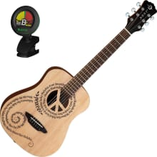 Safari Peace Etched Travel Acoustic Bundle