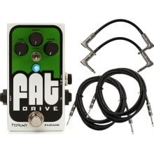 FAT Drive Overdrive Effects Pedal with Cables