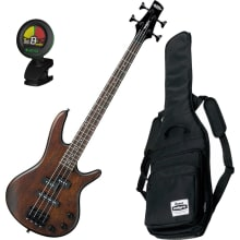 miKro GSRM20 WNF 4-String Electric Bass Bundle