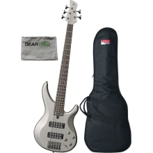 Yamaha TRBX305 PWT Pewter 5-String Bass Guitar w/