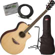 Yamaha APX600 NA Natural Thin Body Acoustic-Electr