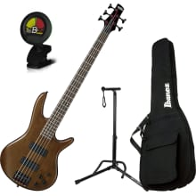 GSR205BWNF 5-String Electric Bass Guitar Bundle