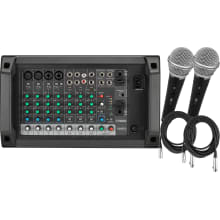 EMX2 10-Channel 2x250W Powered Mixer Bundle
