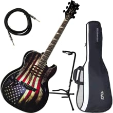 Dave Mustaine Mako Glory USA Flag A/E Guitar