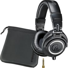 ATH-M50 Studio Monitor Closed-Back Headphones