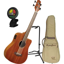 Microbass Short-Scaled Fretless A/E Bass Bundle