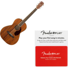 Fender PM-2 Parlor NE All Mahogany Acoustic Guitar