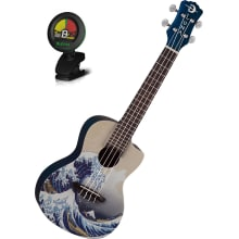GWC Concert Great Wave Ukulele Bundle