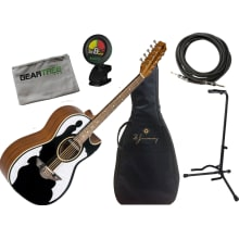 Bajo Quinto LBQ4EBT Acoustic-Electric Bundle