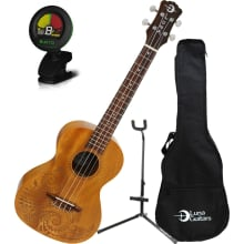 Tattoo Tenor Mahogany Ukulele Bundle