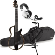 SLG200N TBL Nylon String Silent Guitar Bundle