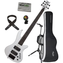 2842 Stiletto Stage-5 WH 5-String Bass Bundle