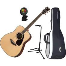 FG830NT Spruce Top Folk Acoustic Guitar Bundle