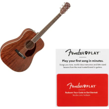 Fender PM 1 Dreadnought Acoustic Guitar All Mahoga