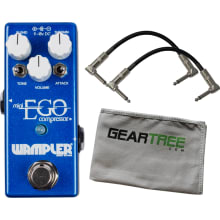 Wampler Mini Ego Compressor Pedal w/ 2 Patch Cable