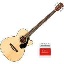 Fender CB-60SCE Natural Acoustic-Electric Bass Gui