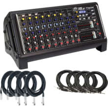 XR-AT 1000-watt Powered Mixer Bundle