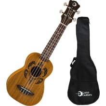 Soprano Honu Tribal Turtle Ukulele w/Bag