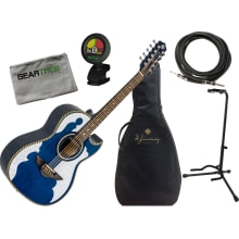 Bajo Quinto LBQ4ETB Acoustic-Electric Bundle