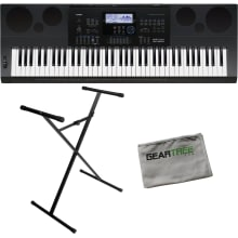 WK-6600 76-Key Portable Keyboard Bundle