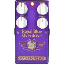 Royal Blue Tranparent Overdrive Guitar Pedal