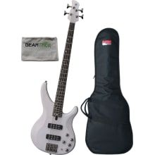 Yamaha TRBX504 TWH Translucent White 4 String Bass