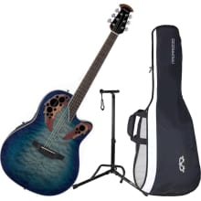 CE48P-RG Celebrity Elite Plus SS A/E Guitar Bundle