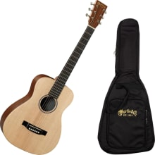 LX1E Acoustic/Electric Natural Guitar with Gig Bag