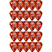 1CSH4-25 Shell-Color 25-Pack Guitar Picks
