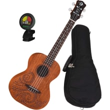 Tattoo Mahogany Concert Ukulele Bundle