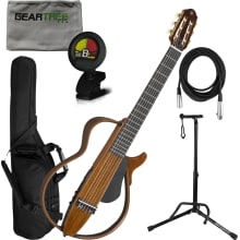 SLG200NW Nylon String Silent Guitar w/Bag Bundle