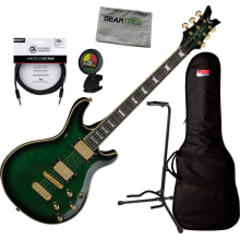 Dean DCR Icon TGR Trans Green Custom Run 15 Electr