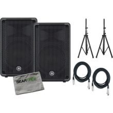 (2) DBR10 700-Watt Powered Speaker Bundle
