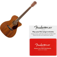 Fender PM 3C Triple O Mahogany Acoustic Guitar w/